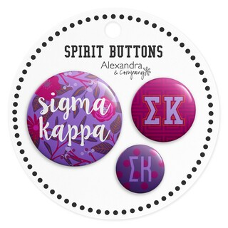 Sigma Kappa Sorority New Spirit Button Set