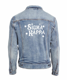 Sigma Kappa Star Struck Denim Jacket