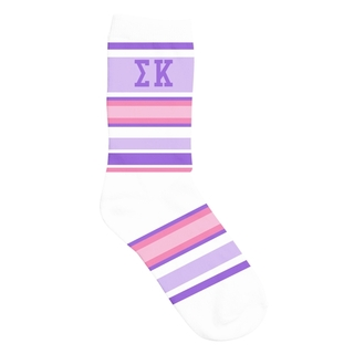 Sigma Kappa Striped Crew Socks