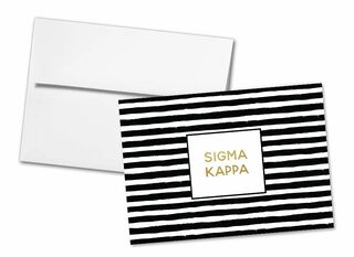 Sigma Kappa Striped Notecards(6)