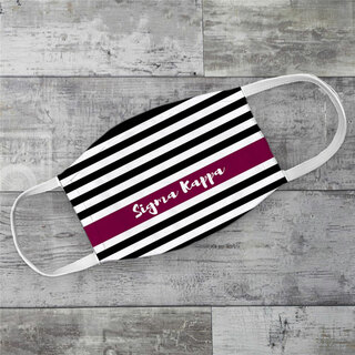 Sigma Kappa Stripes Face Mask