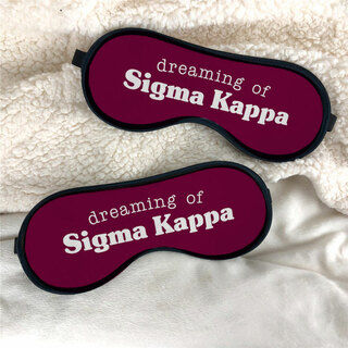 Sigma Kappa Sweet Dreams Eye Mask