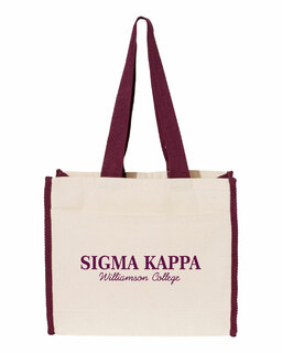 Sigma Kappa Tote with Contrast-Color Handles
