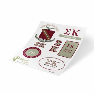 Sigma Kappa Traditional Sticker Sheet