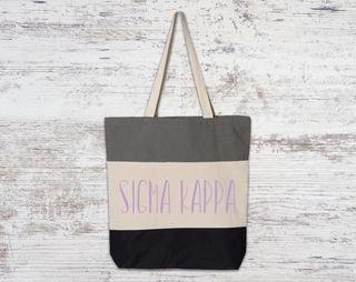 Sigma Kappa Tri Color Tote Bag
