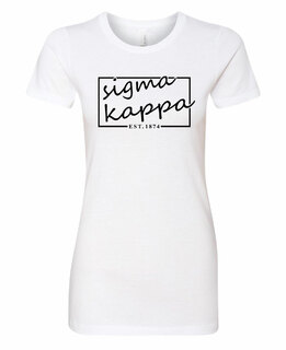 Sigma Kappa Triblend Short Sleeve Box T-Shirt