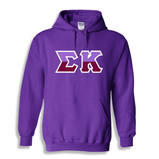 Sigma Kappa Two Tone Greek Lettered Hooded Sweatshirt