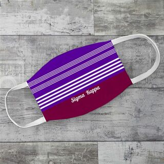 Sigma Kappa Two Tone Stripes Face Mask