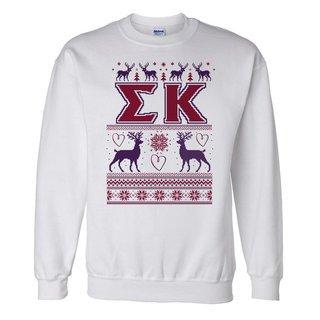 Sigma Kappa Ugly Christmas Sweater Crewneck Sweatshirt