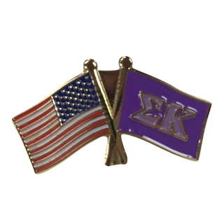 Sigma Kappa USA Flag Lapel Pin