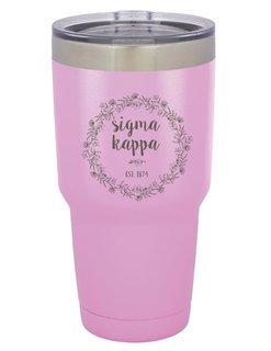 Sigma Kappa Vacuum Insulated Floral Tumbler