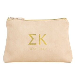 Sigma Kappa Vegan Leather Cosmetic Bags