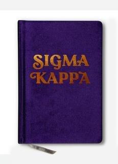 Sigma Kappa Velvet Notebook