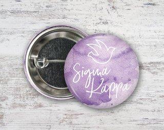 Sigma Kappa Watercolor Script Button