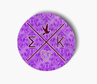 Sigma Kappa Well Balanced Round Decals