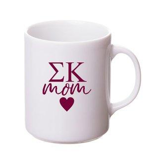 Sigma Kappa White Personalized Coffee Mug