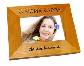 Sigma Kappa Mascot Wood Picture Frame