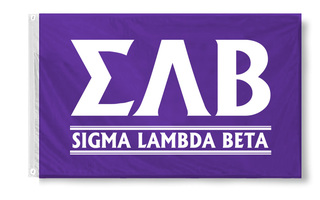 Sigma Lambda Beta Custom Line Flag