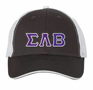 Sigma Lambda Beta Double Greek Trucker Cap