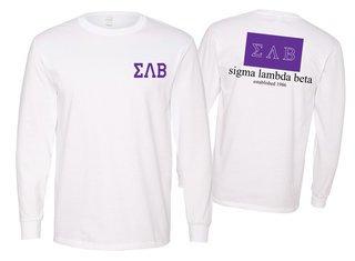 Sigma Lambda Beta Flag Long Sleeve T-shirt