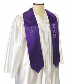 Sigma Lambda Beta Embroidered Graduation Sash Stole