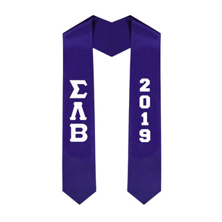 Sigma Lambda Beta Greek Lettered Graduation Sash Stole With Year - Best Value