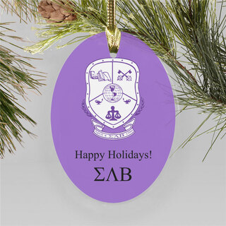Sigma Lambda Beta Holiday Color Crest - Shield Ornament