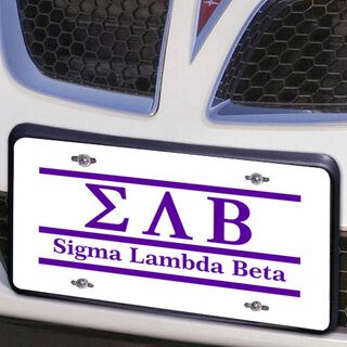 Sigma Lambda Beta Lettered Lines License Cover