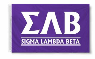 Sigma Lambda Beta Signs & Flags
