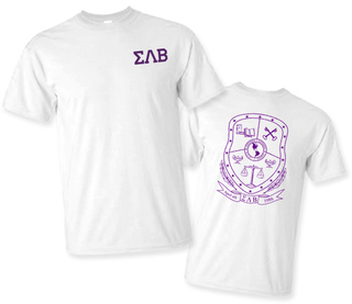 Sigma Lambda Beta World Famous Crest - Shield Tee