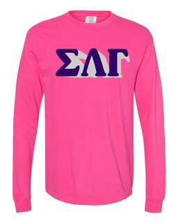 Sigma Lambda Gamma 3 D Greek Long Sleeve T-Shirt - Comfort Colors