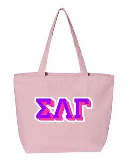 Sigma Lambda Gamma 3D Letter Tote Bag