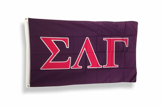 Sigma Lambda Gamma Big Greek Letter Flag