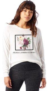 Sigma Lambda Gamma Bouquet Slouchy Eco-Jersey Pullover