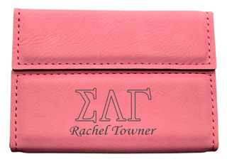Sigma Lambda Gamma Business Card Holder