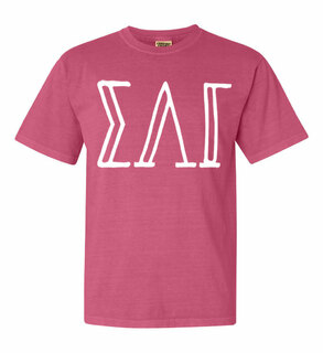 Sigma Lambda Gamma Comfort Colors Heavyweight Design T-Shirt