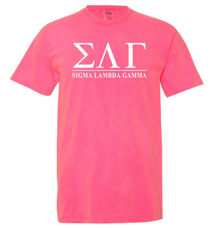 Sigma Lambda Gamma Comfort Colors Heavyweight T-Shirt