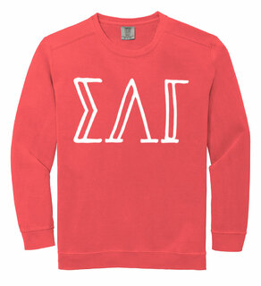 Sigma Lambda Gamma Comfort Colors Greek Crewneck Sweatshirt