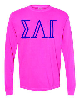 Sigma Lambda Gamma Comfort Colors Greek Long Sleeve T-Shirt