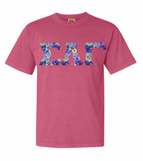 Sigma Lambda Gamma Comfort Colors Lettered Greek Short Sleeve T-Shirt