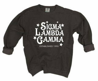 Sigma Lambda Gamma Comfort Colors Old School Custom Crew