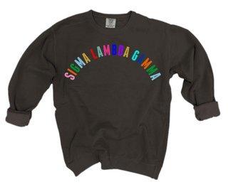 Sigma Lambda Gamma Comfort Colors Rainbow Arch Crew