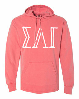 Sigma Lambda Gamma Comfort Colors - Terry Scuba Neck Greek Hooded Pullover