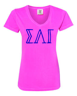 Sigma Lambda Gamma Comfort Colors V-Neck T-Shirt