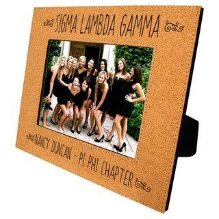 Sigma Lambda Gamma Cork Photo Frame