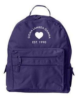 DISCOUNT-Sigma Lambda Gamma Crest - Shield Mascot Backpack