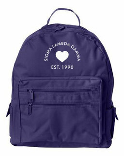 DISCOUNT-Sigma Lambda Gamma Crest - Shield Mascot Backpack