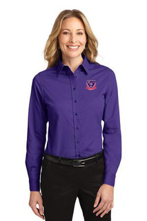DISCOUNT-Sigma Lambda Gamma Crest - Shield Long Sleeve Oxford