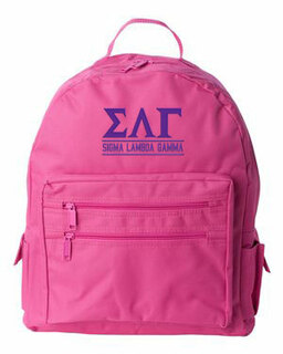 Sigma Lambda Gamma Custom Text Backpack