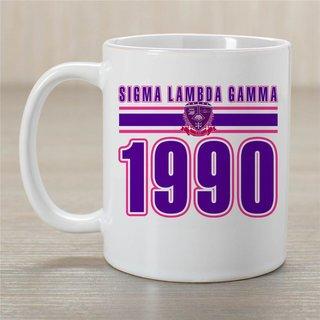 Sigma Lambda Gamma Established Year Coffee Mug - Personalized!